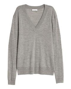 Cashmere-blend Jumper Grey