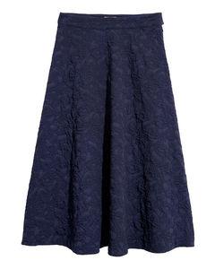 Jacquard-weave Skirt Blue