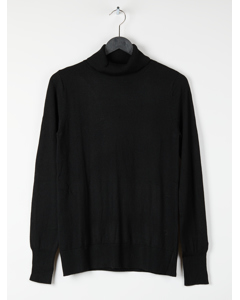 Pullover Black Solid