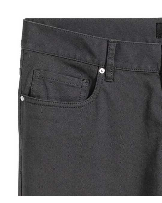 H&M Twill Trousers Slim Fit Grey
