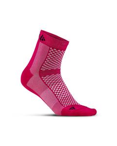 Cool Mid 2-pack Sock - Jam/black-pink-eu 40/42