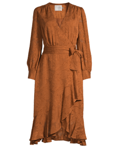 Lily Wrap Dress Cognac