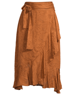 Lily Wrap Skirt Cognac