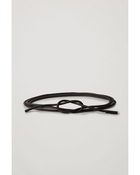 COS Leather Rope Belt Black