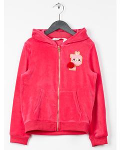 Hooded Velour Jacket Pink