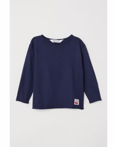 Fine-knit Jumper Blue