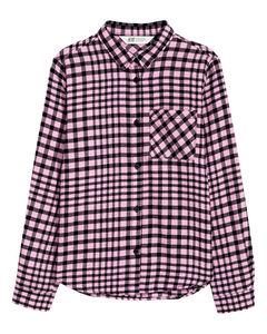 Cotton Flannel Shirt Pink