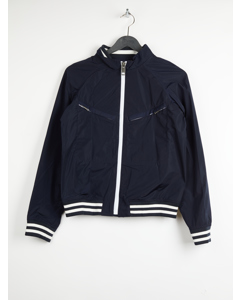 Jez Bomber With Logo On Back Navy