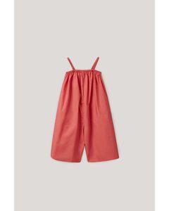 Cotton Jumpsuit Red