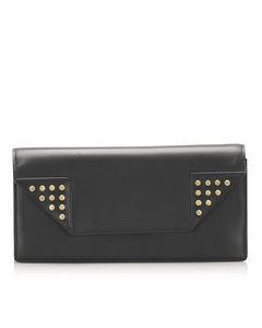 Ysl Betty Leather Clutch Bag Black