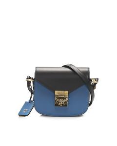 Mcm Patricia Leather Crossbody Bag Blue