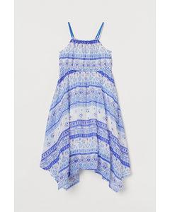 Maxi-jurk Helderblauw/dessin