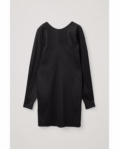 Organic Cotton Dress With Voluminous Sleeves Black