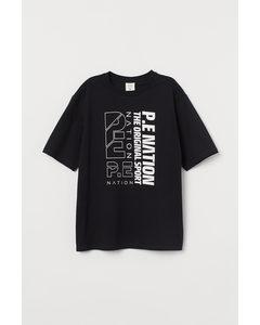 T-Shirt aus Baumwolle Schwarz