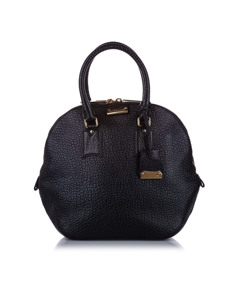 Burberry Medium Orchard Leather Handbag Black