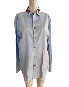 Blue Oxford Duke Shirt With Kingsnake