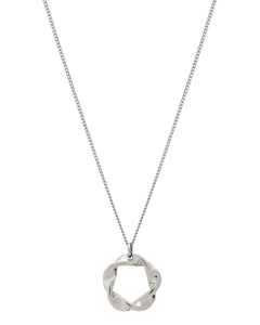 Swirl Necklace Small Steel