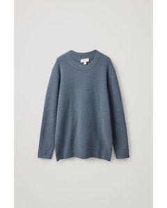 Wool Relaxed Jumper Steel Blue