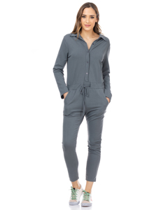 Jumpsuit With Adjustable Waist And Pockets