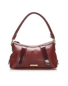 Burberry Leather Baguette Red