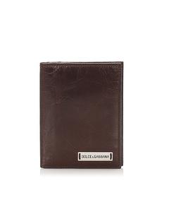 Dolce&gabbana Leather Passport Case Brown