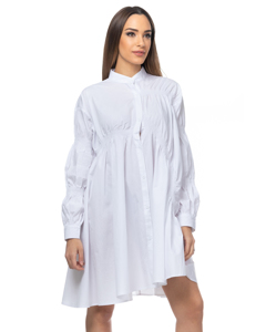Oversize Asymmetric Dress With Elastic Bands