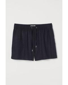Shorts aus Leinenmix Marineblau