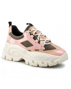 Wave Sneaker Olijf Roze