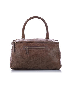 Givenchy Pandora Leather Satchel Brown