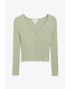 Fitted Cardigan Green