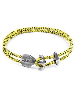 Gelbe Noir Delta Silber Und Seil Ankerarmband