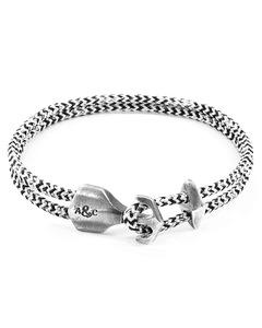 Weisse Noir Delta Silber Und Seil Ankerarmband