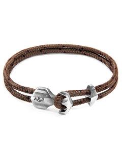 Braune Delta Silber Und Seil Ankerarmband