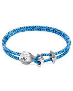 Blaue Noir Delta Silber Und Seil Ankerarmband