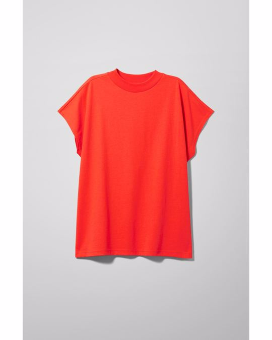 Weekday Prime T-shirt Bright Red