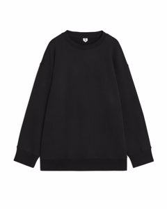 Oversized Organic Cotton Sweatshirt Black