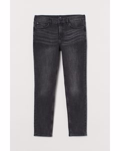 Skinny Jeans Zwart Washed Out