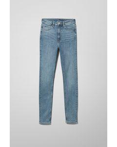 Body Extra High Skinny Jeans Bleecker-Blau