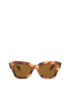 Rb2186 Stripped Havana Zonnenbrillen