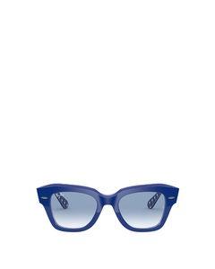 Rb2186 Blue On Vichy Blue / White Solglasögon