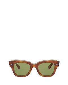 Rb2186 Havana On Transparent Beige Zonnenbrillen