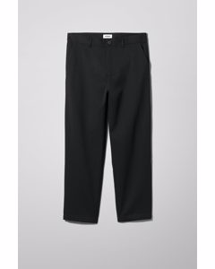 Cat Cropped Trousers Black