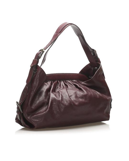 Fendi Fendi Doctor B Leather Handbag Red