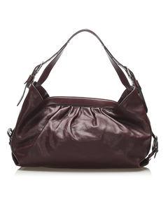 Fendi Doctor B Leather Handbag Red