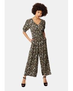 Hetty V-neck Wide Leg Jumpsuit In Floral Print