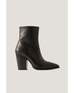 Pointy Western Boots Black