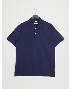 Piqué Polo Shirt Dark Blue