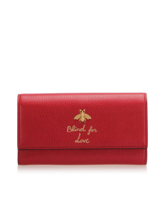 Gucci Blind For Love Leather Long Wallet Red