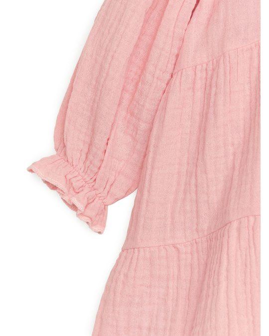 Arket Voluminöses Kleid Sanftes Rosa