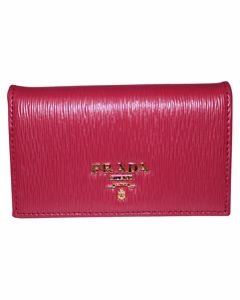 Fuchsia Vitello Compact Wallet